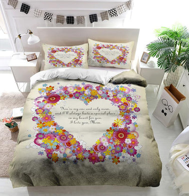 Mother's Day Blessings Flowers Custom Printing Comforter
