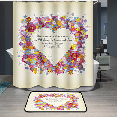 Mother's Day Blessings Flowers Shower Curtain
