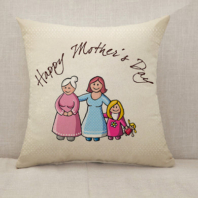 [Personalized] Mother's Day Blessings Family Throw Pillow [With Inserts]