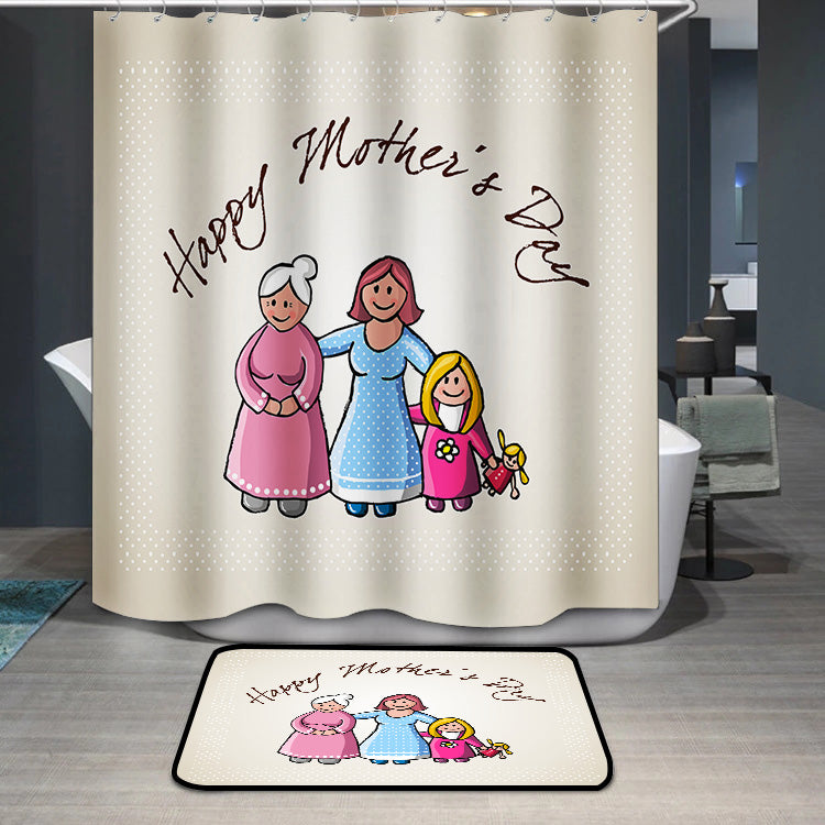 Mother's Day Blessings Family Shower Curtain