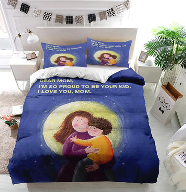 Mother's Day Blessings I love mom Custom Printing Comforter