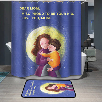 Mother's Day Blessings I love mom Shower Curtain