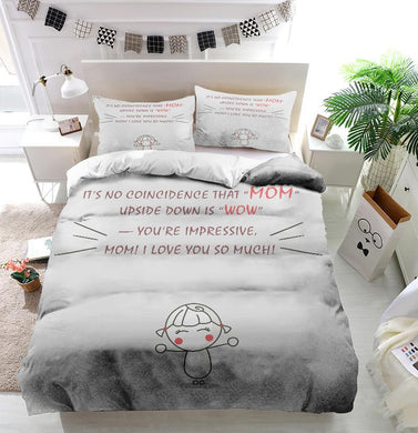 Mother's Day Blessings MOM WOW Custom Printing Comforter