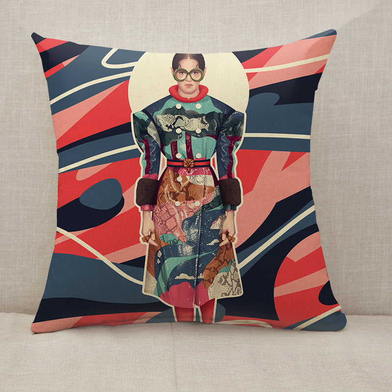 Fashion Stylish Model Throw Pillow [With Inserts]