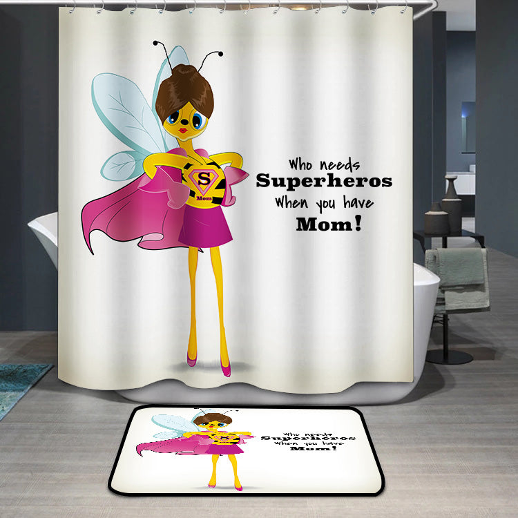 Mother's Day Blessings Superhero Shower Curtain