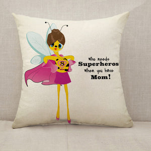 Mother's Day Blessings Superhero Throw Pillow [With Inserts]