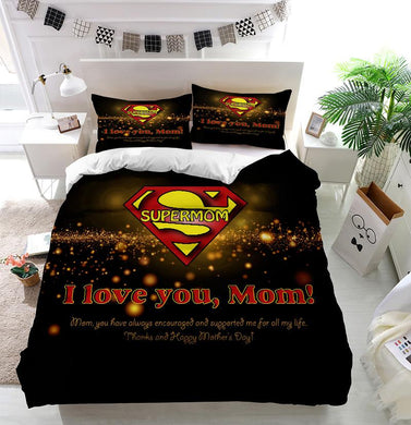 Mother's Day Blessings Supermom Custom Printing Comforter