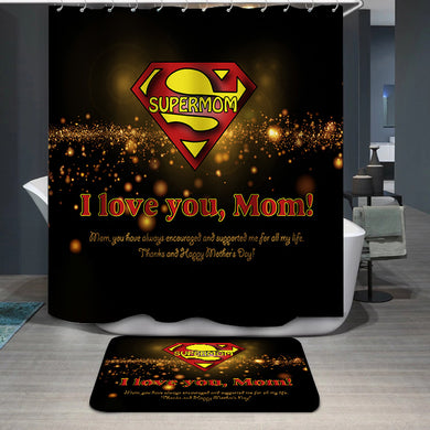 Mother's Day Blessings Supermom Shower Curtain