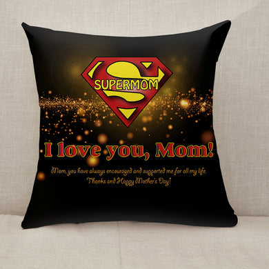Mother's Day Blessings Supermom Throw Pillow [With Inserts]