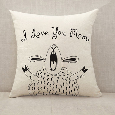 [Personalized] Mother's Day Blessings Shouting Throw Pillow [With Inserts]