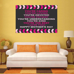 Mother's Day Blessings Caring - 1 Piece Canvas Wall Art