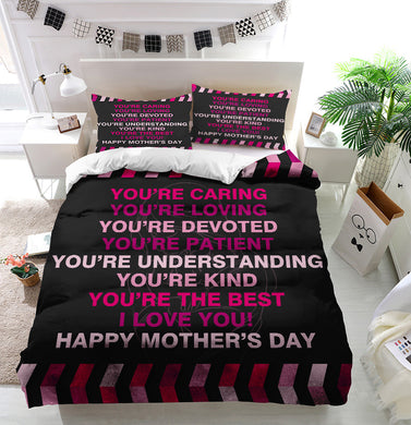 Mother's Day Blessings Caring Duvet Cover Bedding Set