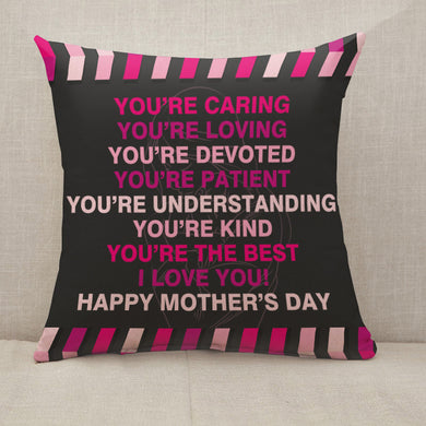 Mother's Day Blessings Caring Throw Pillow [With Inserts]