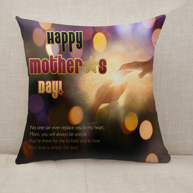 Mother's Day Blessings Hand Hold Throw Pillow [With Inserts]