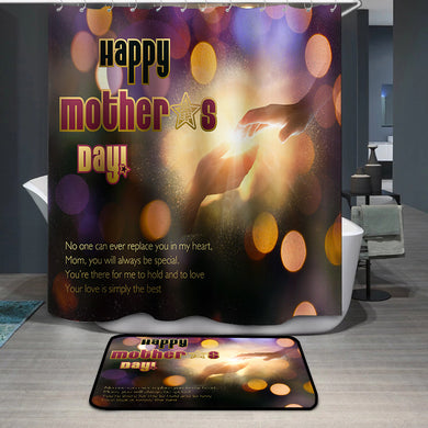 Mother's Day Blessings Hand Hold Shower Curtain
