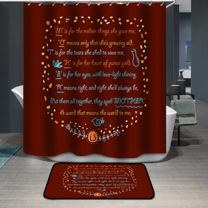 Mother's Day Blessings Meaning Shower Curtain