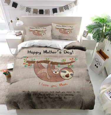 Mother's Day Blessings Sloth Custom Printing Comforter
