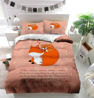 Mother's Day Blessings Fox Custom Printing Comforter
