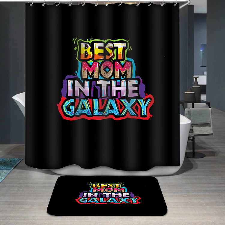 Mother's Day Best Mom in the galaxy Shower Curtain