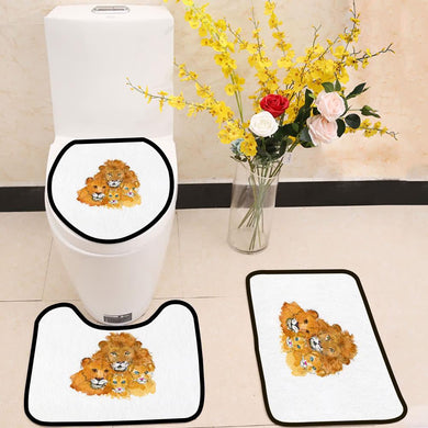 Lions Family love and togetherness 3 Piece Toilet Cover Set