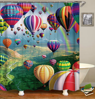 Colorful Hot Air Balloons Shower Curtain