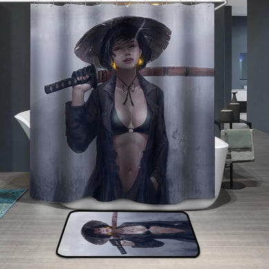 Woman knight Shower Curtain