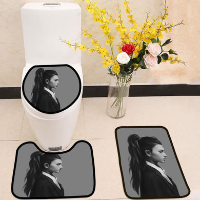 High ponytail and a gorgeous side profile 3 Piece Toilet Cover Set