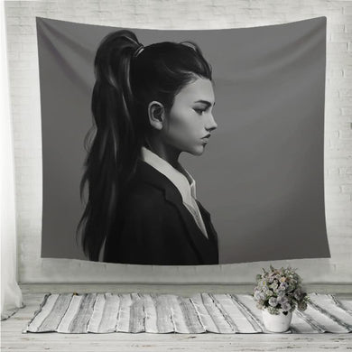 High ponytail and a gorgeous side profile Wall Tapestry