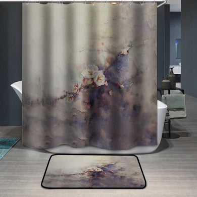 Plum blossom watercolor painting Shower Curtain