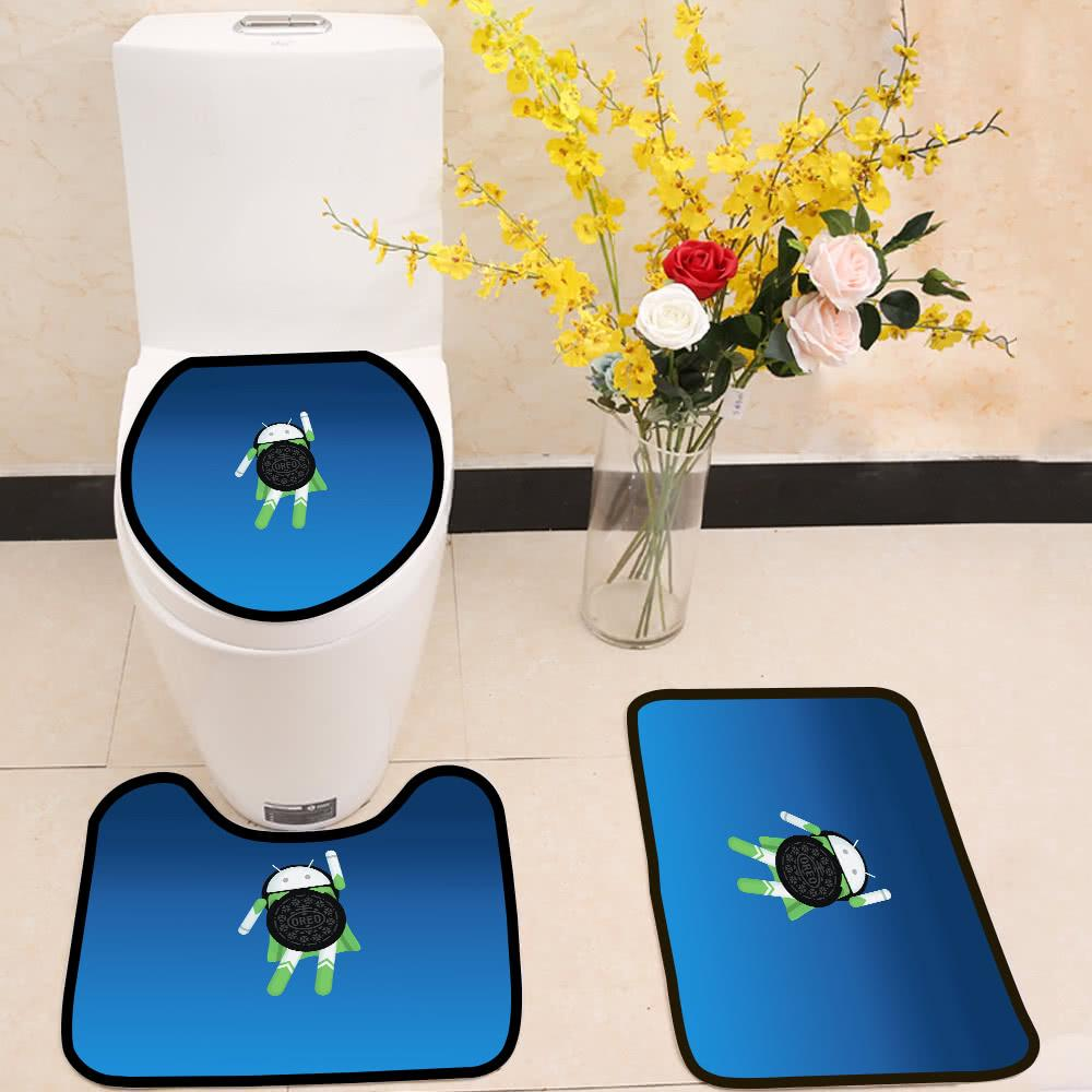 android oreo 3 Piece Toilet Cover Set