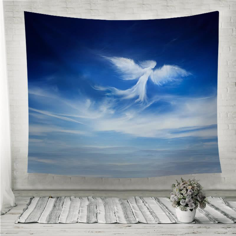 angel cloud blue sky Wall Tapestry