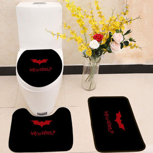 Why So Serious Batman 3 Piece Toilet Cover Set