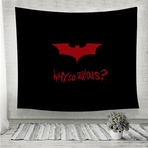 Why So Serious Batman Wall Tapestry