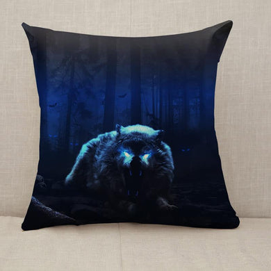 wolf forest nightmare Throw Pillow [With Inserts]