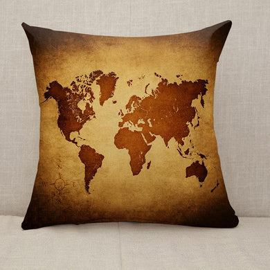 Old vintage world map Throw Pillow [With Inserts]