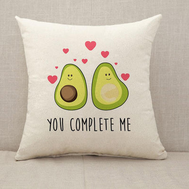 Avocado you complete me Throw Pillow [With Inserts]