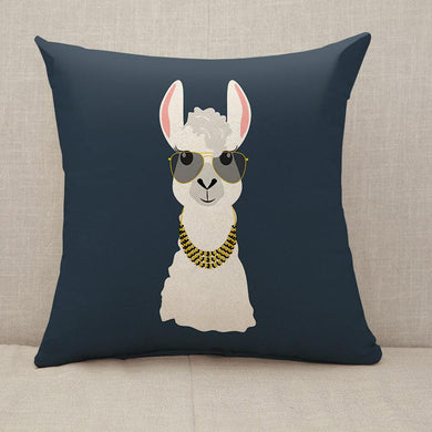 Llama in aviator glasses Throw Pillow [With Inserts]