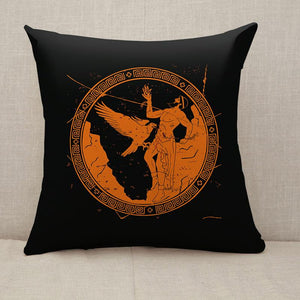 Ancient Greek god Prometheus Throw Pillow [With Inserts]