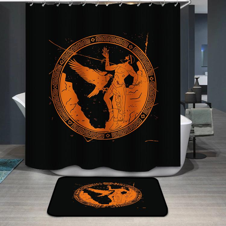 Ancient Greek god Prometheus Shower Curtain