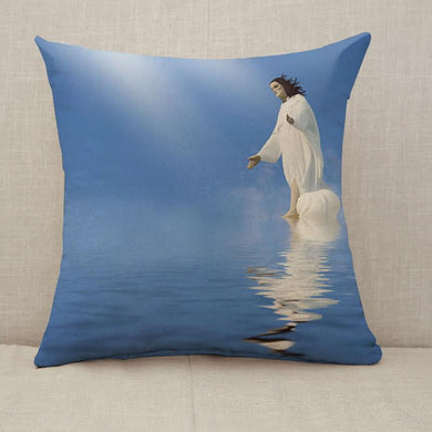Jesus Miracle Throw Pillow [With Inserts]