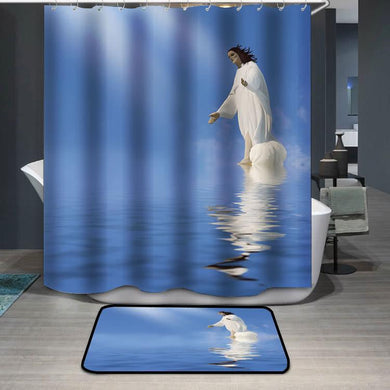 Jesus Miracle Shower Curtain