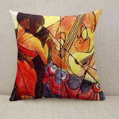 Jazz Cubism Throw Pillow [With Inserts]