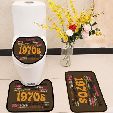 1970s Phrases and Slangs 3 Piece Toilet Cover Set