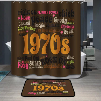 1970s Phrases and Slangs Shower Curtain
