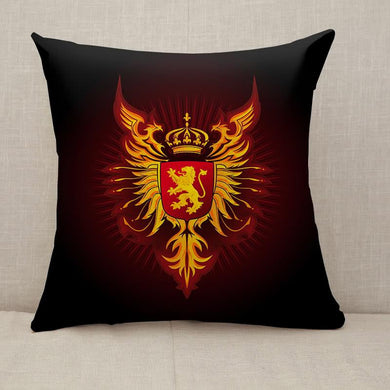 Coat of Arms Eagles and Lion Throw Pillow [With Inserts]