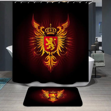 Coat of Arms Eagles and Lion Shower Curtain