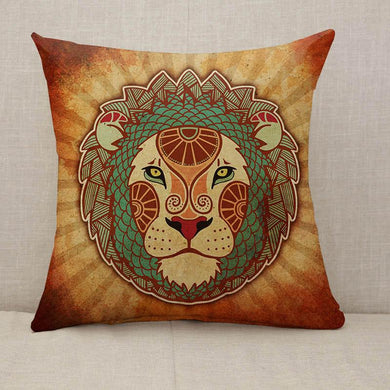 Grunge Zodiac Leo Throw Pillow [With Inserts]