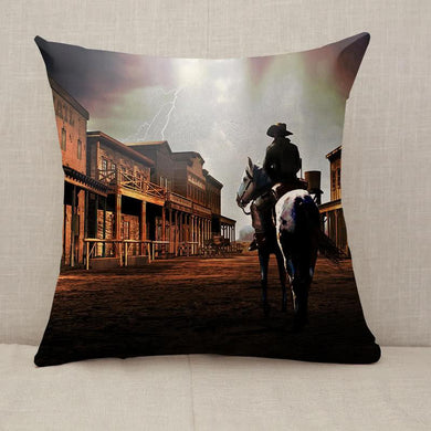 The outsider cowboy Throw Pillow [With Inserts]