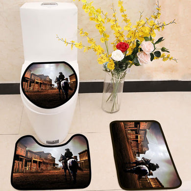 The outsider cowboy 3 Piece Toilet Cover Set