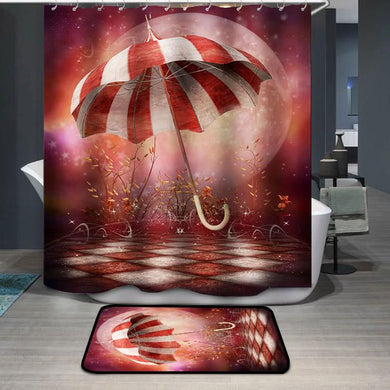 Fantasy scenery with umbrella Shower Curtain